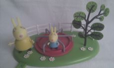 Adorable 'Peppa Pig Roundabout & Mrs Bunny Rabbit & Baby Bunny Rabbit' Playset